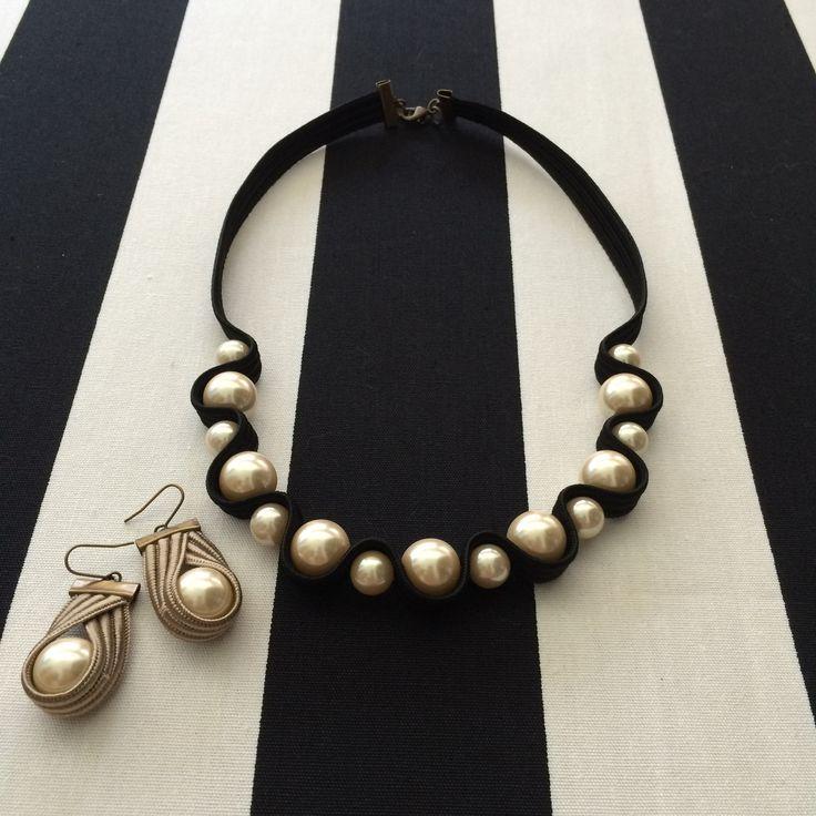 Stella Ciffon - Pear earring + necklace