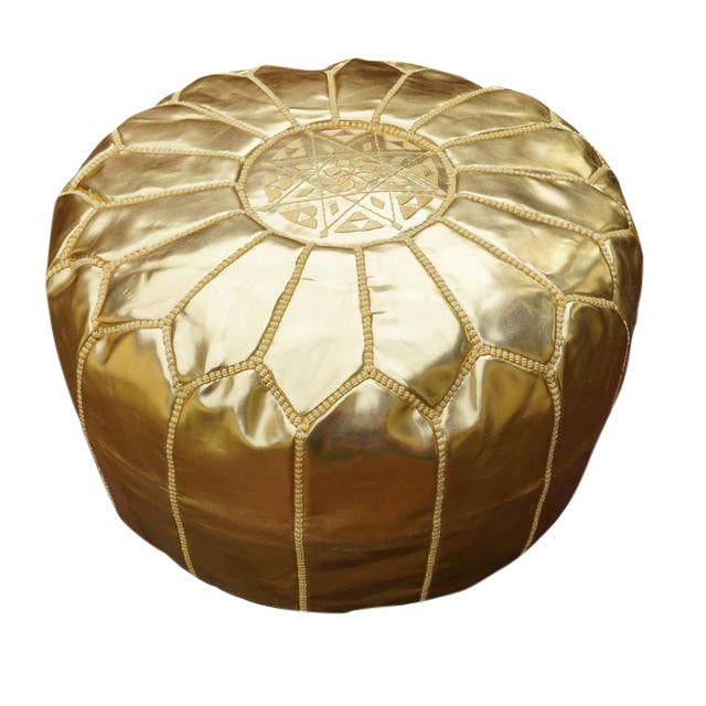 Leather pouffe Moroccan leather Pouf cuir HandMade Boho Moroccan  Leather ottoman footstool Poof Poufs  Pouf ice blue