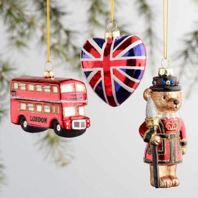 Glass England Boxed Ornaments 3 Pack   Unique christmas ...