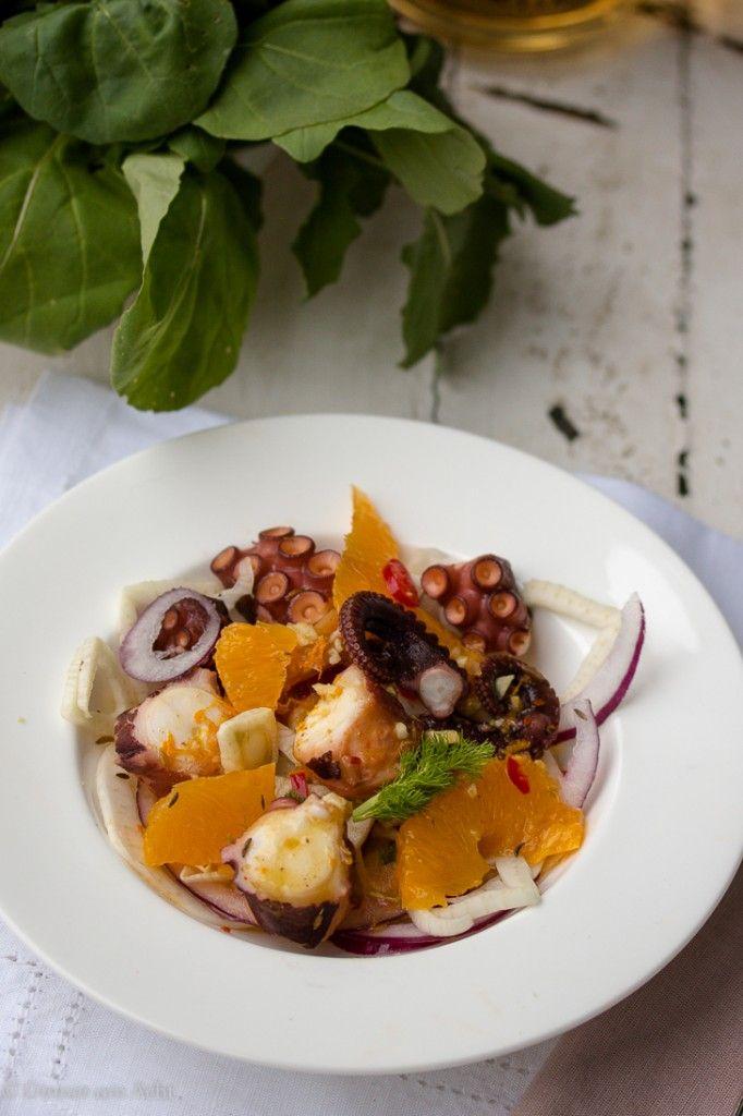 Allerliebster Pulpo Salat mit Fenchel, Orangen, Ingwer und Kreuzkümmel   Dinner um Acht