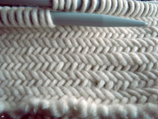Вязание ёлочкой (мастер-класс)