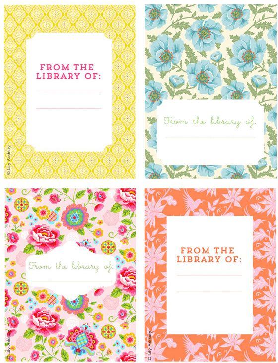 Nifty image intended for free printable bookplates for adults