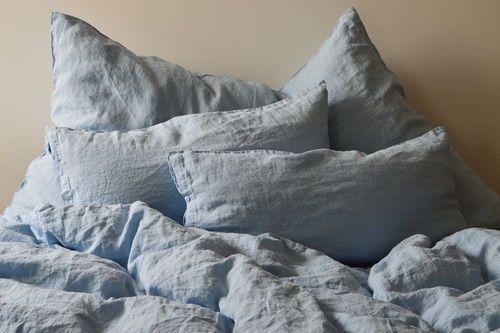 LEINEN KISSENBEZUG LĪGA, Hellblau, 40x 80 cm, 40x 60 cm oder 80x 80 cm