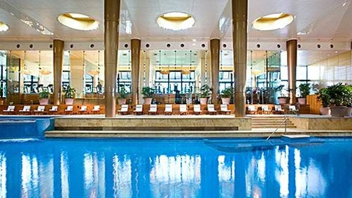 Swimming pool with day spa...Total pampering at Crown Towers, Melbourne #Australia