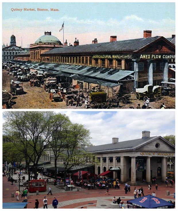 12 Postcard Locations, Then and Now