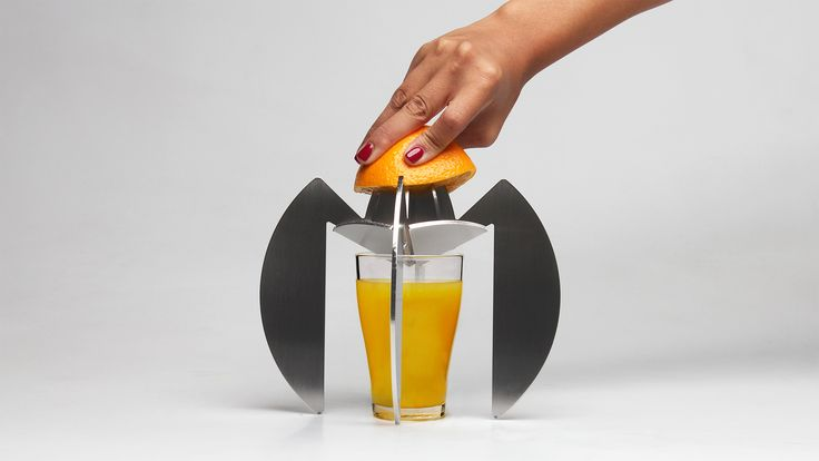 Sorrentino is a juicer made of a stainless steel sheet laser cut. #design #IndustrialDesign #ProductDesign #juicer #spremiagrumi #Sorrentino #LaserCut #MadeInItaly
