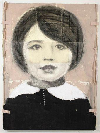 Juliette Gréco. 2011. 84''x60'' - 213x152cm technique mixte (graphite, charbon, pastel, acrylique, collage, papier) par LOUIS BOUDREAULT