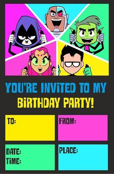 Teen Titans Go Birthday Party Theme Ideas And Supplies -7072