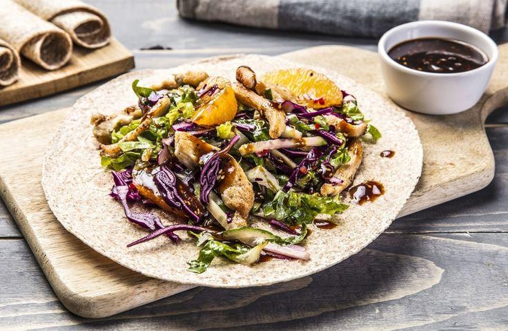 Kyllingwraps med frisk rødkålsalat og hoisinsaus | www.greteroede.no | Oppskrifter | www.greteroede.no