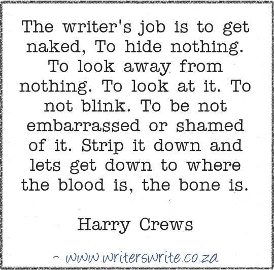 Quotable – Harry Crews - Writers Write