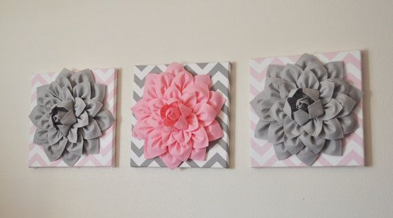ESTRELLAS y rayas venta tres flor de pared Decor rosa por bedbuggs