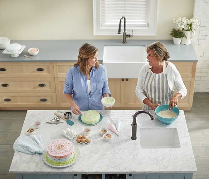Elkay fireclay sinks have a timeless appeal that has been around for decades. The nonporous finish has a beautiful glossy sheen that is easy to clean. Beauty and durability come together in a scratch- and stain-resistant surface.