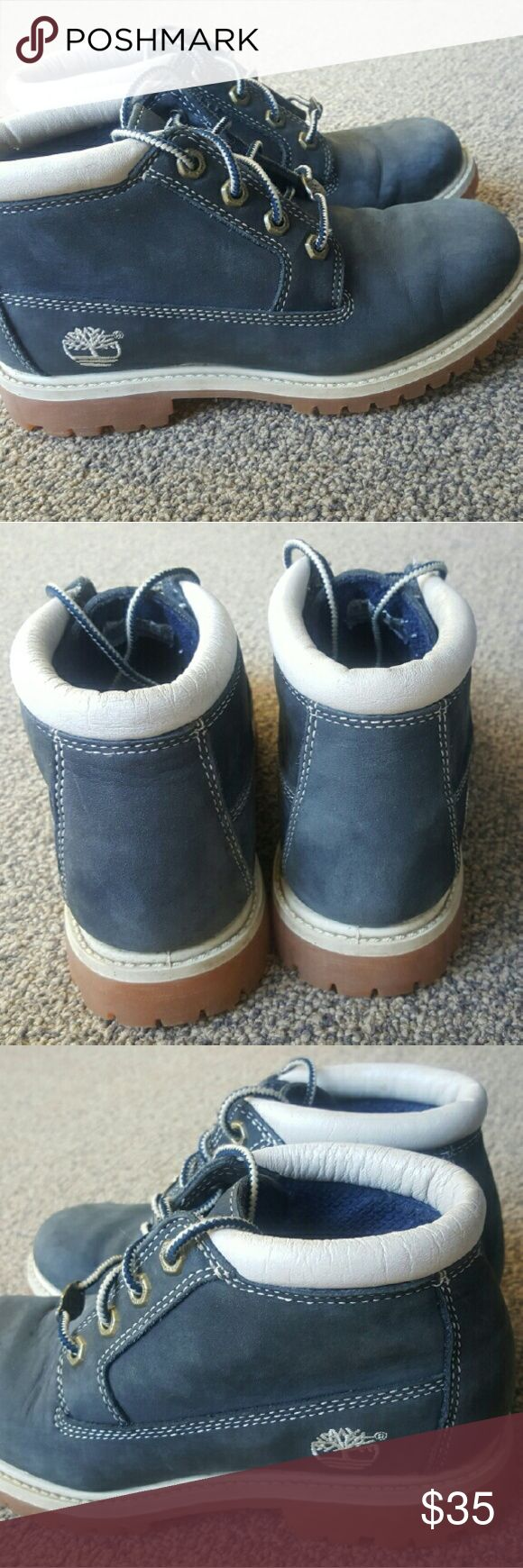 Size 6M Timberland Nellie Chukka Waterproof Boots Only worn once! See tread, never worn on pavement. Gorgeous blue color. Timberland Shoes Ankle Boots & Booties