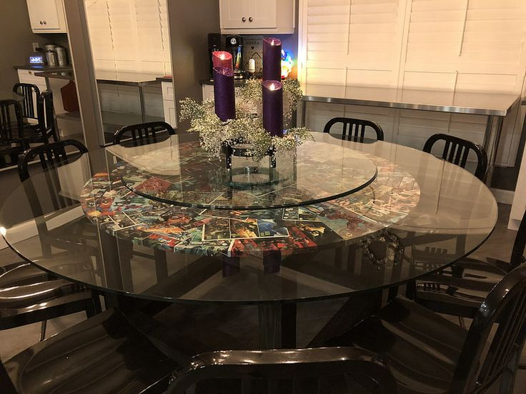 Glass Table, 72 Inch Round Mirror Table Top