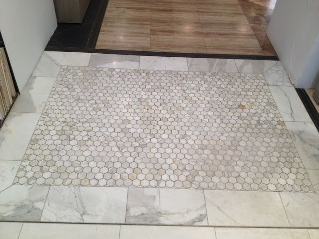 Marble Hex Tiles With Tile Border