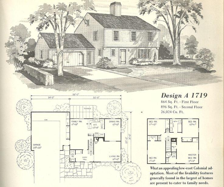 vintage house plans farmhouses design a 1719