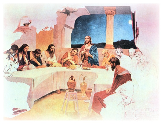 La Última Cena, pintura de Arturo Michelena.: Pintura Inspirada, Last Supper, Last, Corcho Tubular, Paint, Venezuelan Art, Arturo Michelena, Arte Venezolano, Arthur