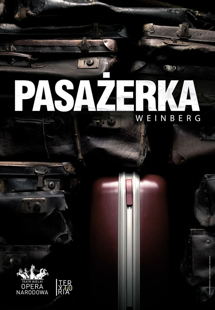 Theatrical poster for Passenger play for Grand Theatre in Warsaw
