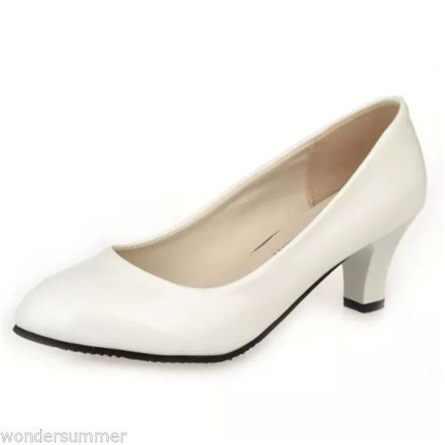 WOMENS-LADIES-MID-POINTED-TOE-HIGH-HEELS-PARTY-PUMPS-BUSINESS-SMART-COURT-SHOES