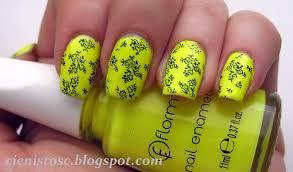 Znalezione obrazy dla zapytania paznokcie żółte neonowe