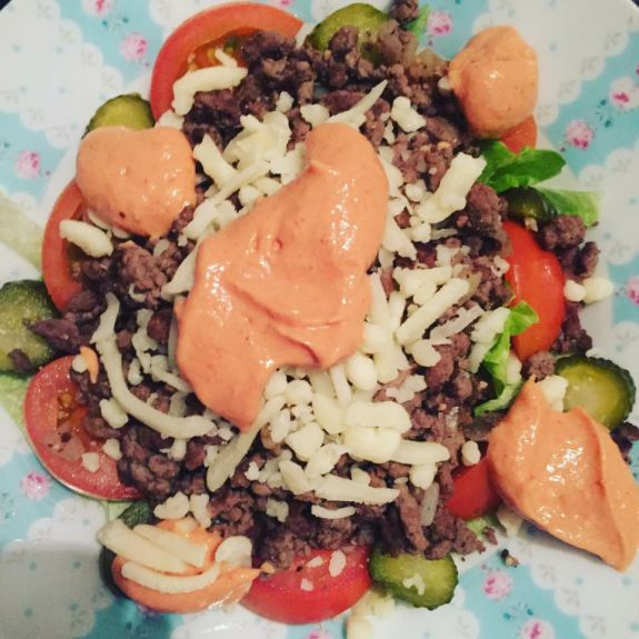 Big Mac In a Bowl – Syn Free – Slimming World – SlimmersDelight.com