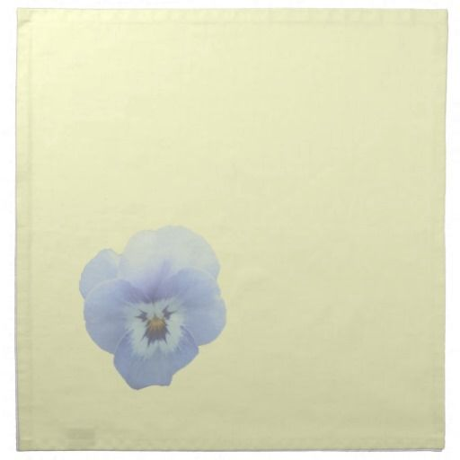 Pansy Floral Napkins on Cream Background
