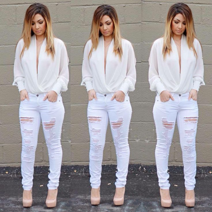 1000  images about All white on Pinterest | White jeans White