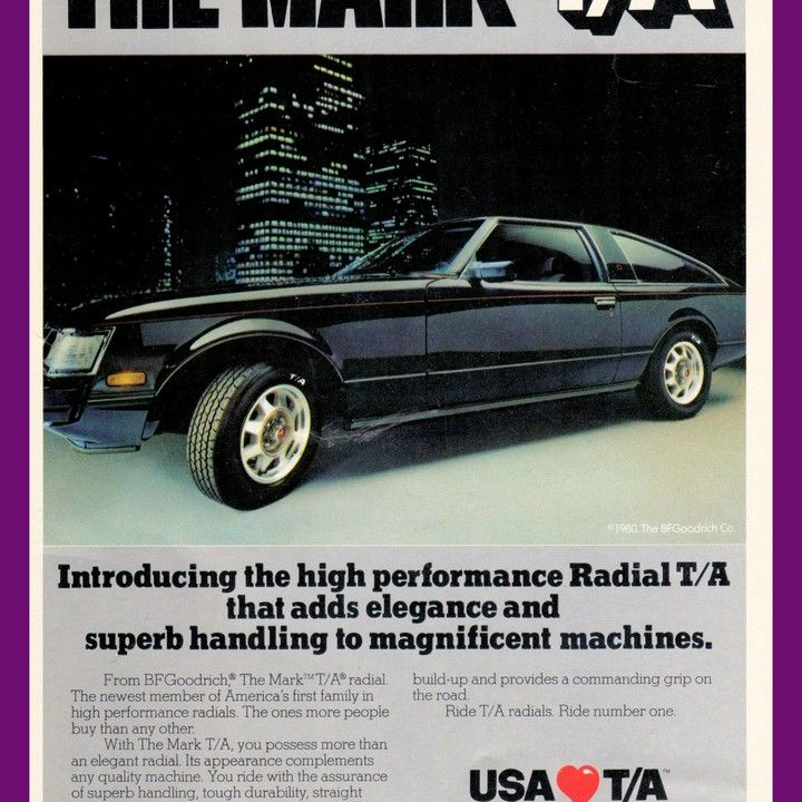 1611afd9c162 1980 B.F. Goodrich Toyota Celica Supra Mark T A Tires Vintage Ad from West  Coast Vintage for  10.00 on Square Market