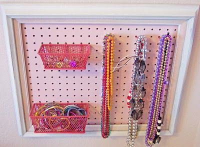 Play Jewelry Organizer ~ would be good to keep small chokables out of Kira's reach but let Danika keep her play jewelry.