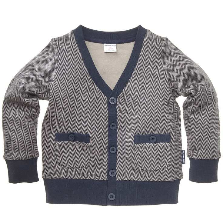 Polarn O Baby Pyret Textured Polo Collar Sweater