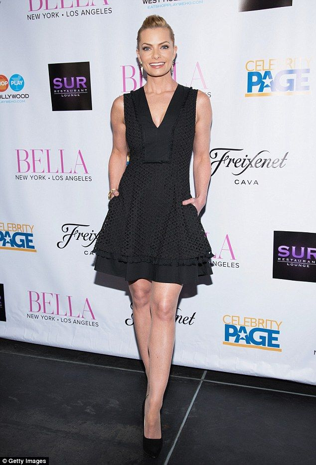 Picture perfect! Jaime Pressly was picture perfect in a flirty black mini dress as she attended to a bash celebrating the beauty issue of BELLA New York Los Angeles magazine in Los Angeles on Saturday