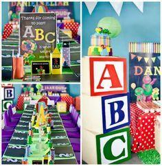 Barney & Friends ABC Birthday Party via Kara's Party Ideas | KarasPartyIdeas.com (1)