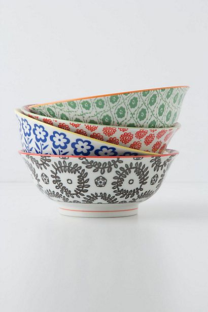 I bought these bowls a few years ago to give away homemade cookies at Christmas and have been coveting them ever since.