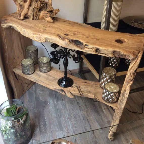 Wood console table by EtienneHomedesign on Etsy