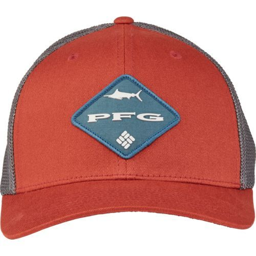 Columbia Sportswear Men's PFG Mesh Ball Cap (Red Dark 02, Size Small/Medium) - Men's Outdoor Apparel, Men's Hunting/Fishing Headwear at Academy Sports