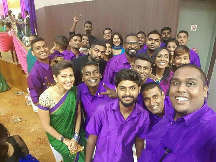 The purple parade.