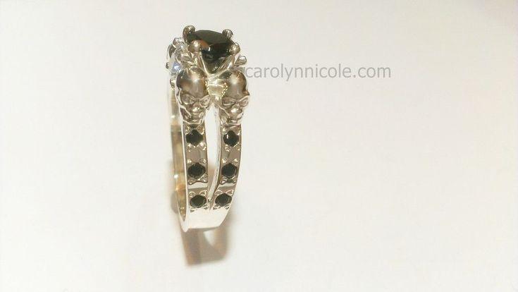 Carolyn Nicole Designs - Skull Engagement Ring by Carolyn Nicole ...