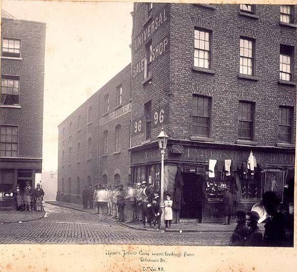 Upper John's Lane West,viewed from Thomas Street....1888