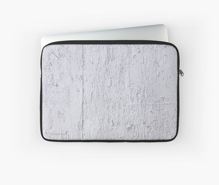 White Plywood Textured Laptop Sleeves by Galerie 503