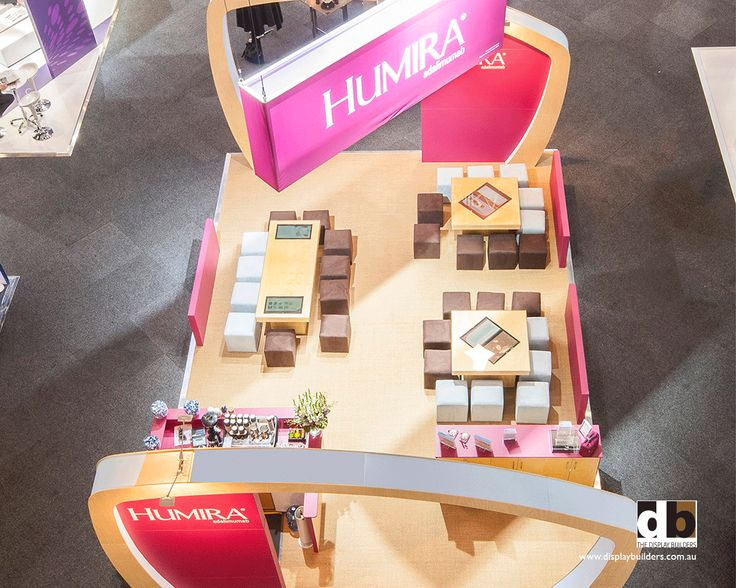 Pink teamed with chocolate brown was a winning combination for the Humira stand @ AGW 2012
