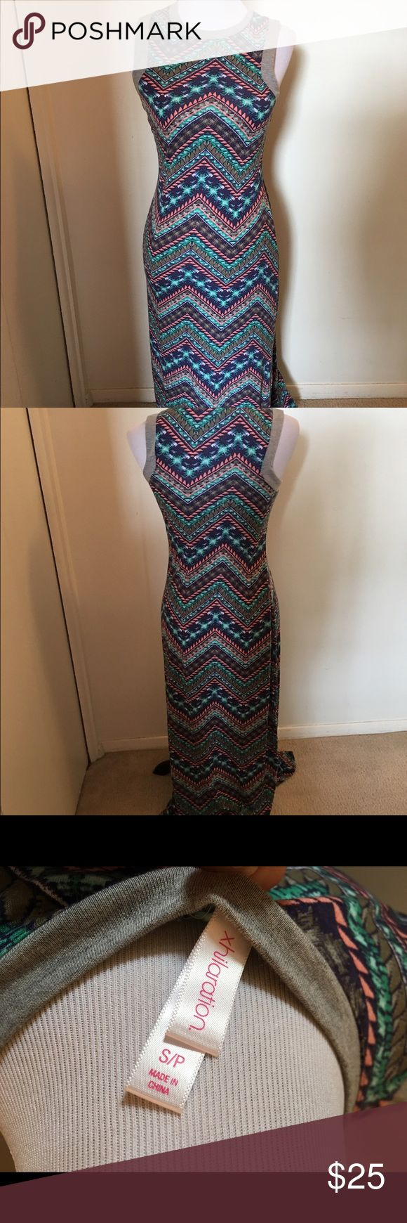 Aztec Maxi Dress Beautiful long Aztec dress Xhilaration Dresses Maxi