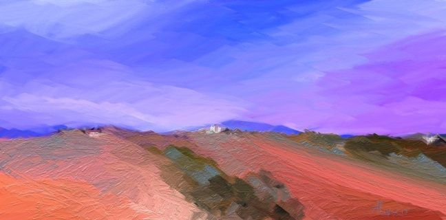 "LANDSCAPE ,110 x 54 cm or 43 x 21 in, signed in front  This is an Original Abstract Digital Painting by Alexis DIGART,   Multiple, professionally printed on high quality canvas (Rolled in a Tube).   Canvas prints include a 2.5"" white border to allow for future stretching on stretcher bars.   Prints ship worldwide within 5-10 business days in durable cardboard tubes.  Shipping costs included in price.  If you have any questions, please feel free to ask.   Thank you.  Contact"