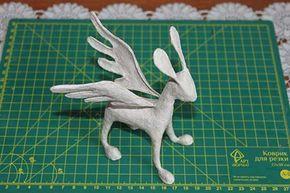 Como hacer un alebrije burro con alas paso 13