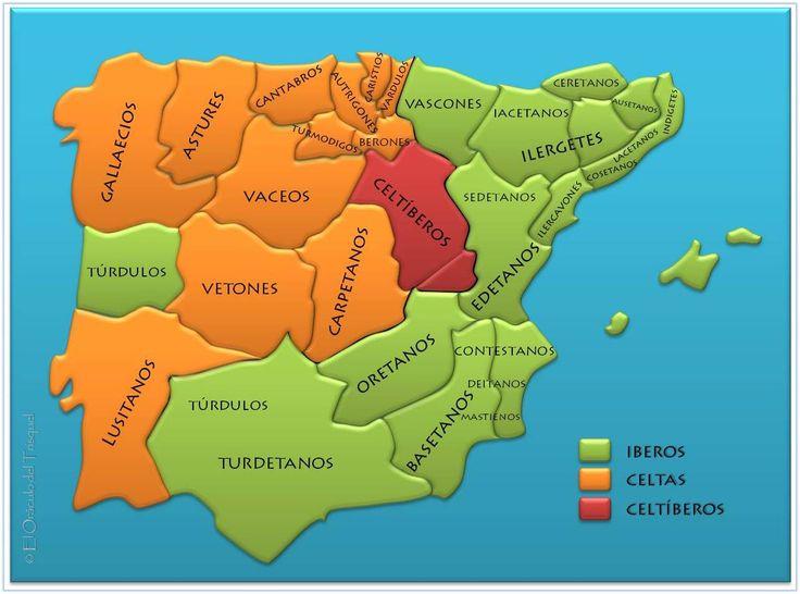 Mapa peninsula iberica preromana  Spanish Infantry  Pinterest