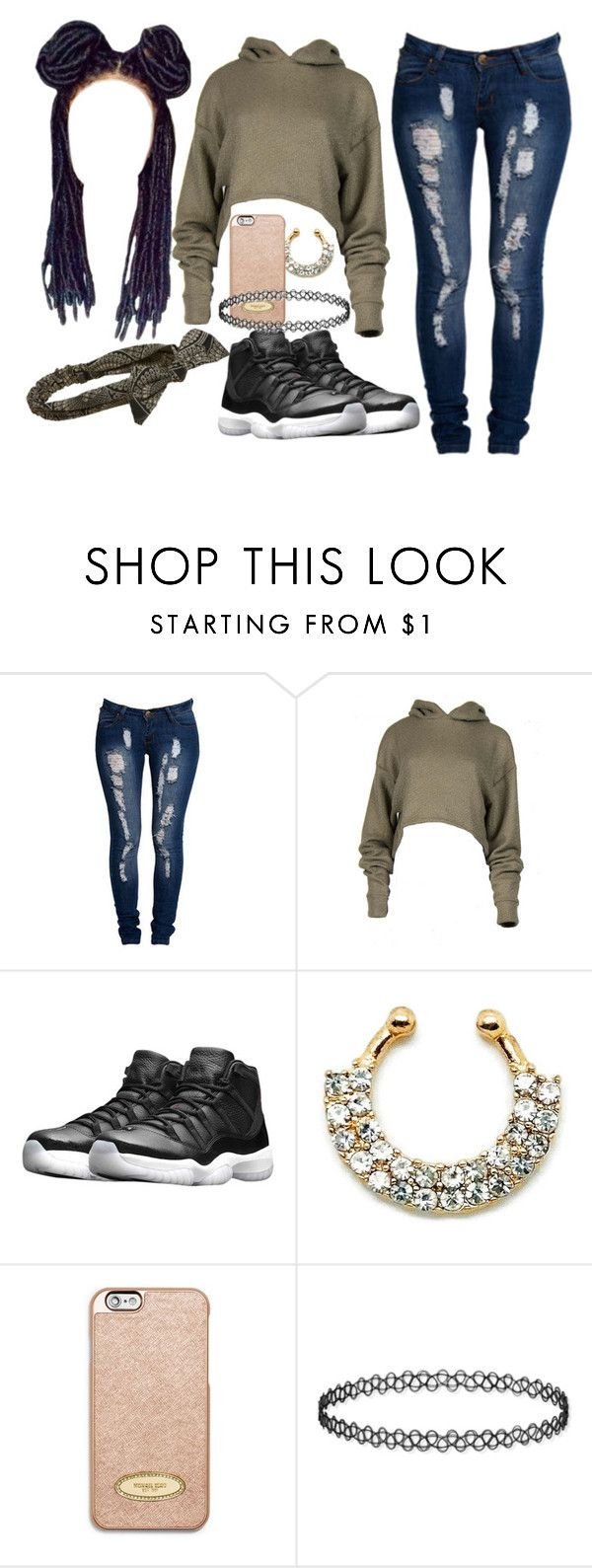 """Drop Snapchat Names"" by ladyalsina ❤ liked on Polyvore featuring Boohoo, NIKE, MICHAEL Michael Kors and Cara"