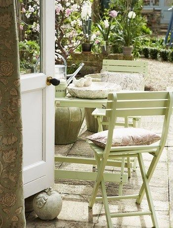 Small patio furniture to make a little space look bigger. 74 best garden ideas images on Pinterest   Landscaping  Brick