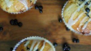Muffins myrtilles & chocolat blanc