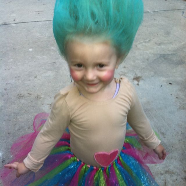 Cute troll Halloween costume!!!! Yep, pretty positive this is bris' costume this year!!!!!