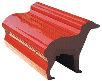 Radi Designers -Whippet Bench -  revêtement imprimé par sublimation, garnissage en mousse polyuréthane, structure en bois