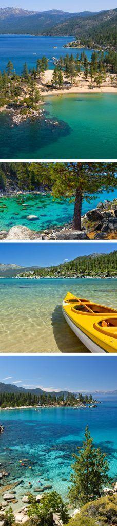 Lake Tahoe Best Beaches / Uns dos meus lugares favoritos sem dúvida nenhuma. No inverno esquiar, no verão nadar. Vale a pena visitar quando se está em Califórnia.